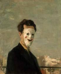 Mica Popovic, Autoritratto con maschera