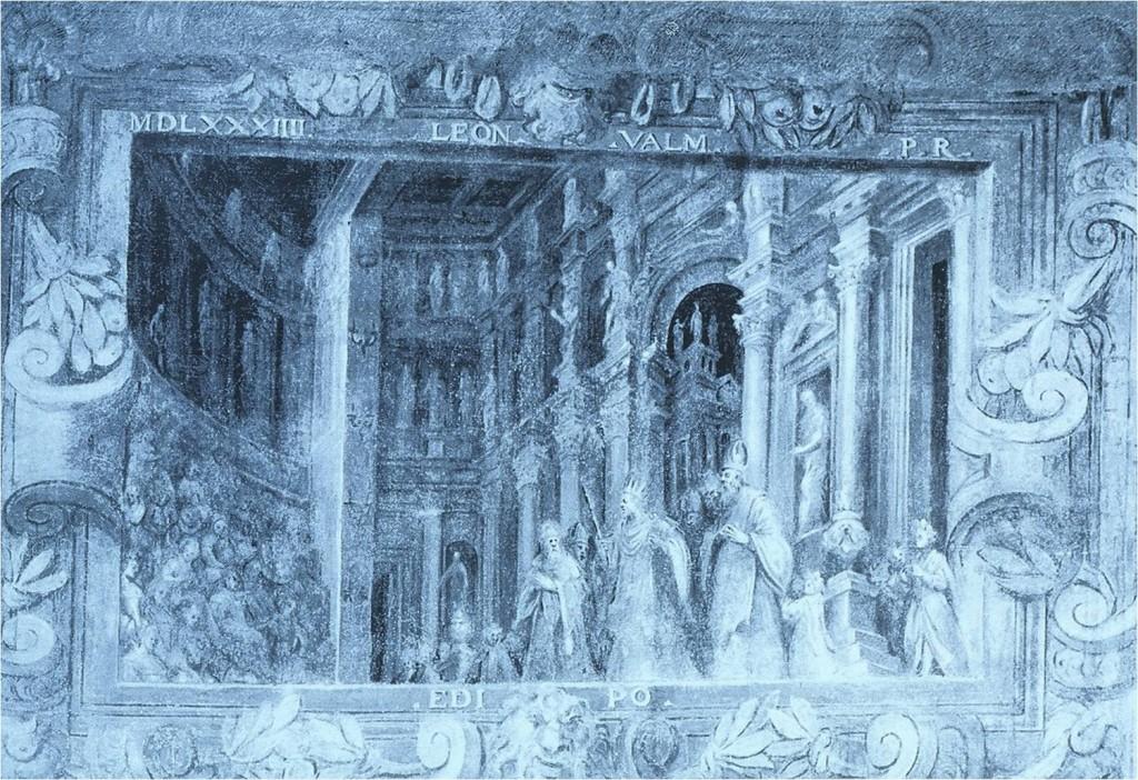 Edipo re, 1585, monocromo nell'odeo del teatro