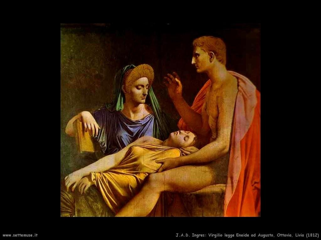Jean Auguste Ingres, Virgilio legge l'Eneide a Augusto, Ottavia e Livia (1812)