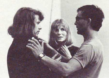 Torgeir Wethal, Else-Marie Laukvik e Eugenio Barba durante le prove di Min Fars Hus (1972)