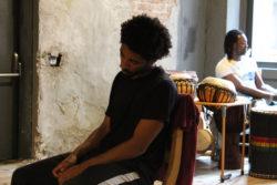 Alberto Malanchino e Moussa Sanou provano <em>Verso Sankara</em>.