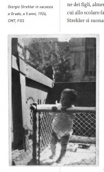 Il piccolo Giorgio, a 5 anni, in vacanza a Grado (GO)