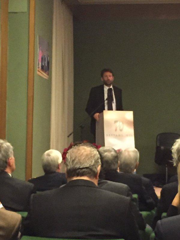 Il ministro Dario Franceschini festeggia i 70 anni dell'AGIS