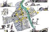 Bozzetto di Boris Podrecca, la città di Cividale e gli spazi del festival